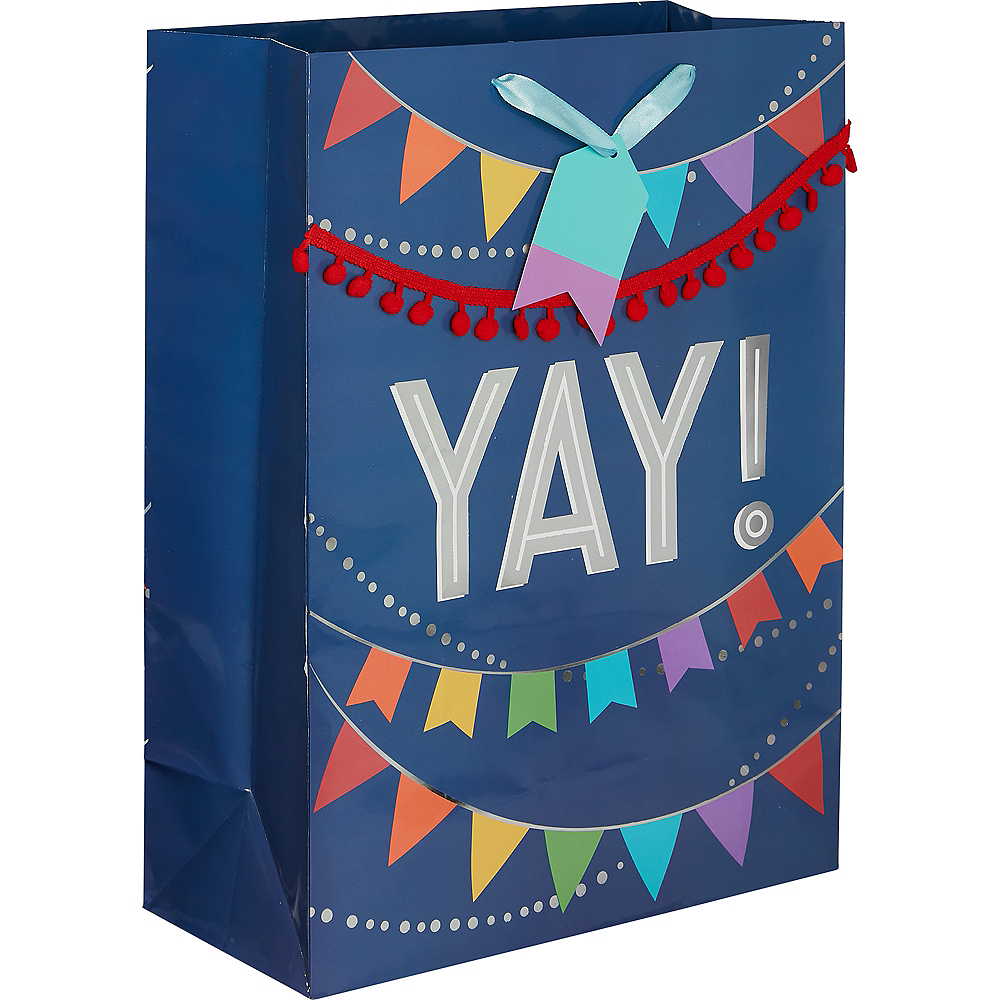 Large Glossy Layered Banner Gift Bag Image #1