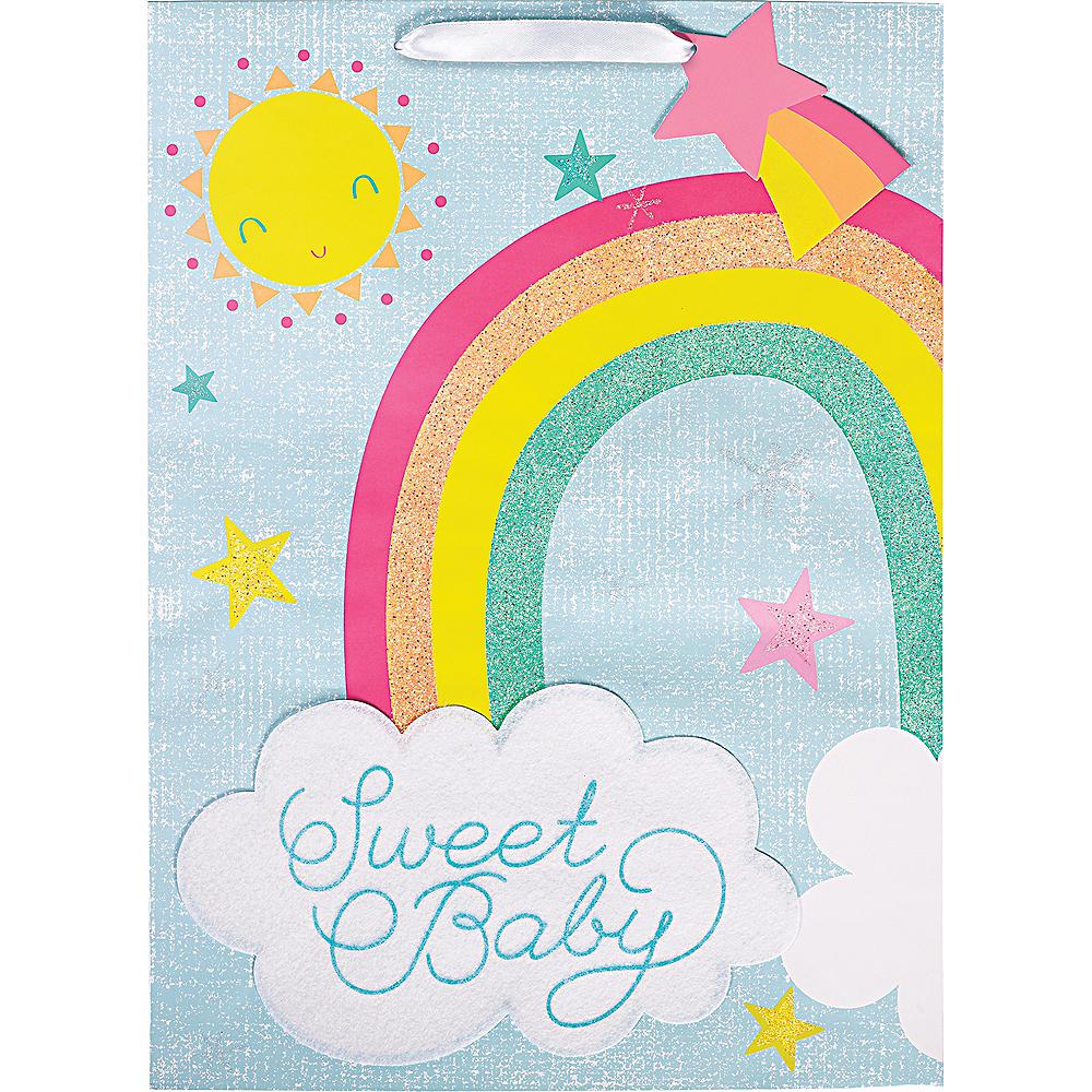 Glitter Rainbow Sweet Baby Gift Bag Image #1