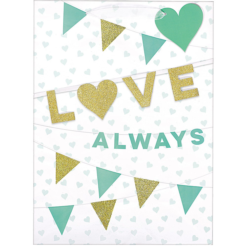 Glitter Gold & Mint Love Always Gift Bag Image #1