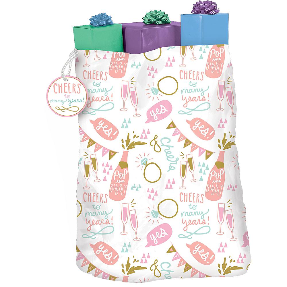 Gold & Pink Wedding Gift Sack Image #2