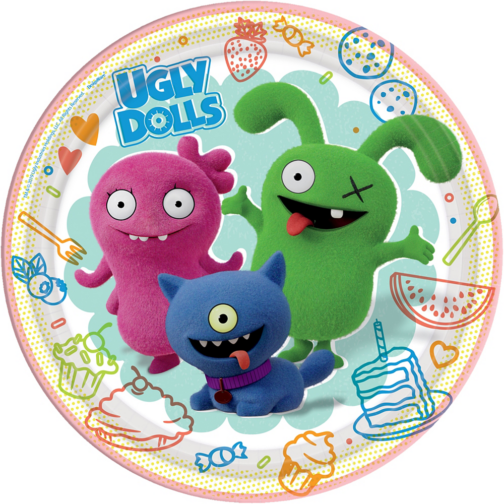 UglyDolls Lunch Plates 8ct Image #1