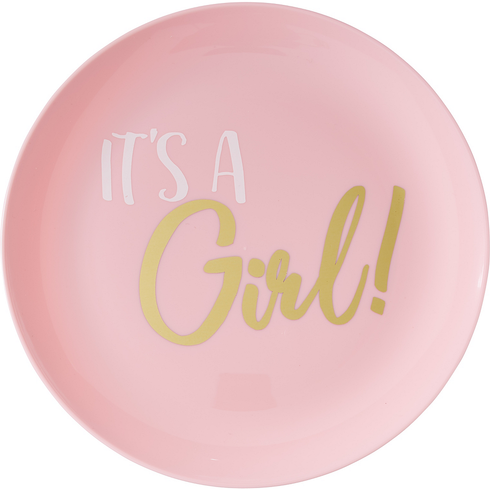 It's a Girl Premium Plastic Lunch Plates 20ct Image #1