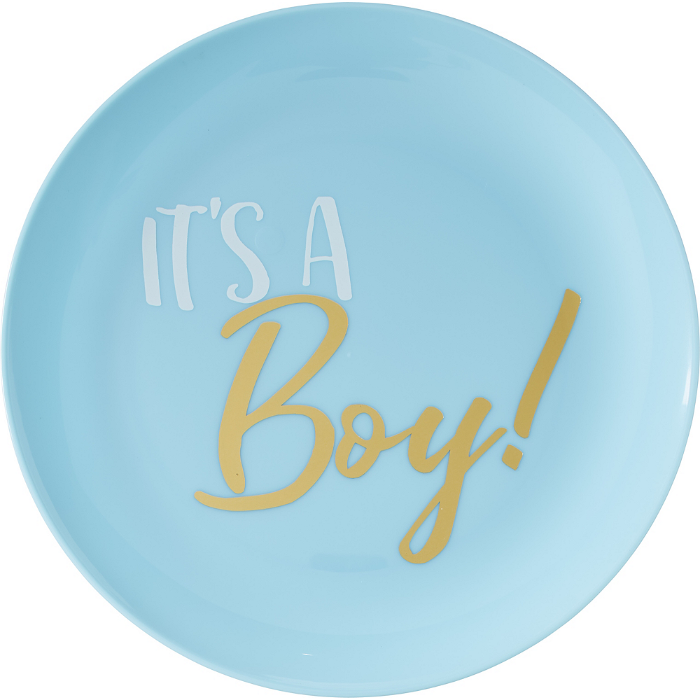 It's a Boy Premium Plastic Lunch Plates 20ct Image #1