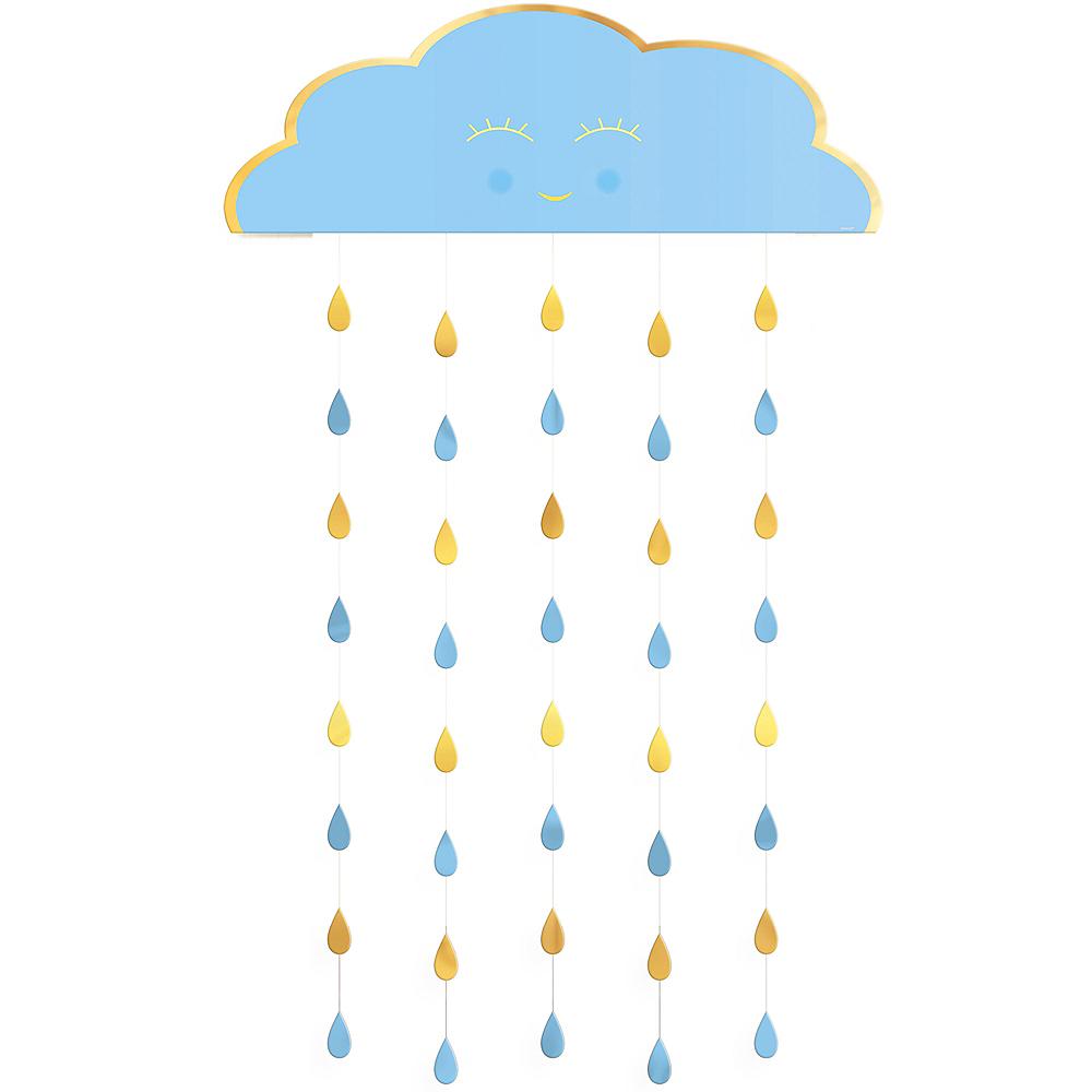 Blue Happy Cloud Baby Shower Doorway Curtain Image #1