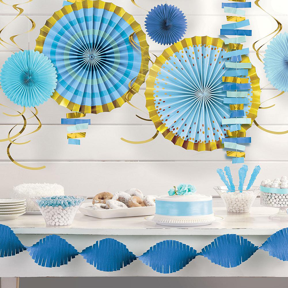Metallic Gold & Blue Room Decorating Kit Image #1