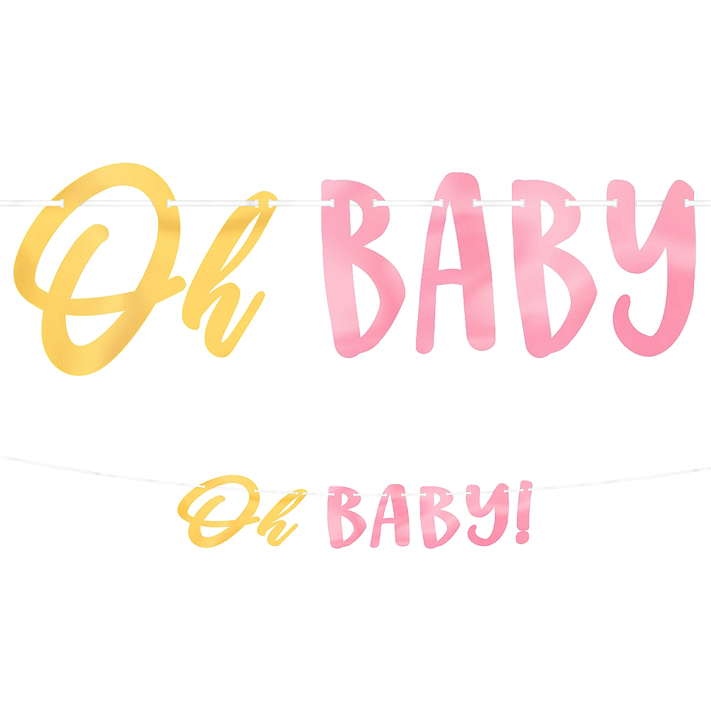 Nav Item for Metallic Gold & Pink Oh Baby Banner Image #1