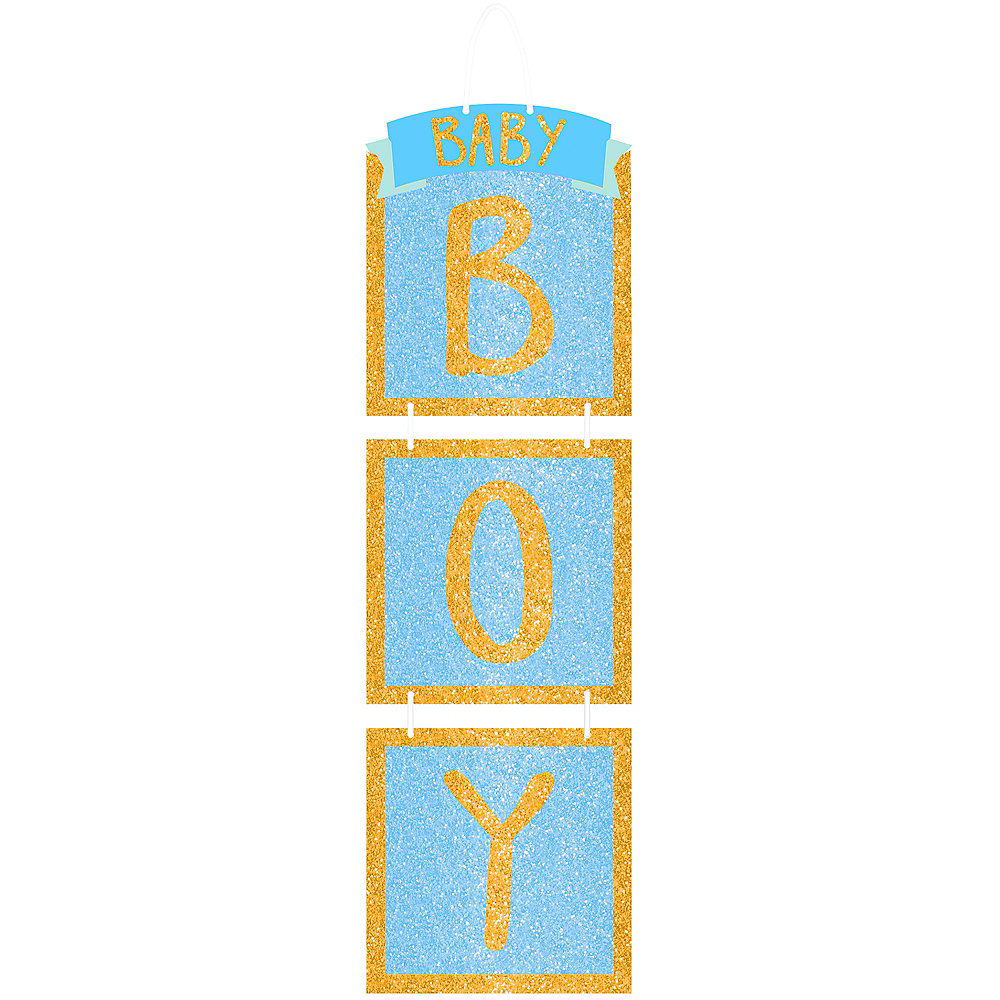 Glitter Baby Boy Stacked Sign Image #1