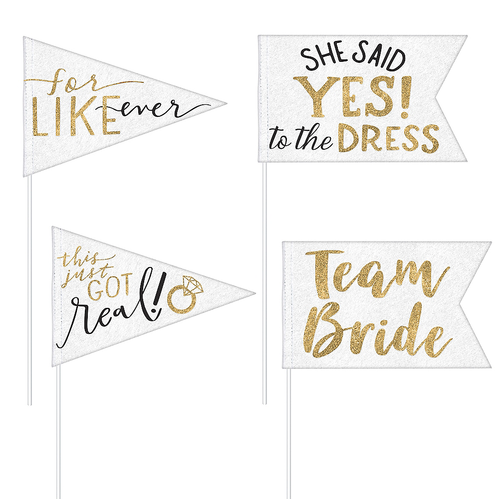 Bride Tribe Pennant Flags 4ct Image #1
