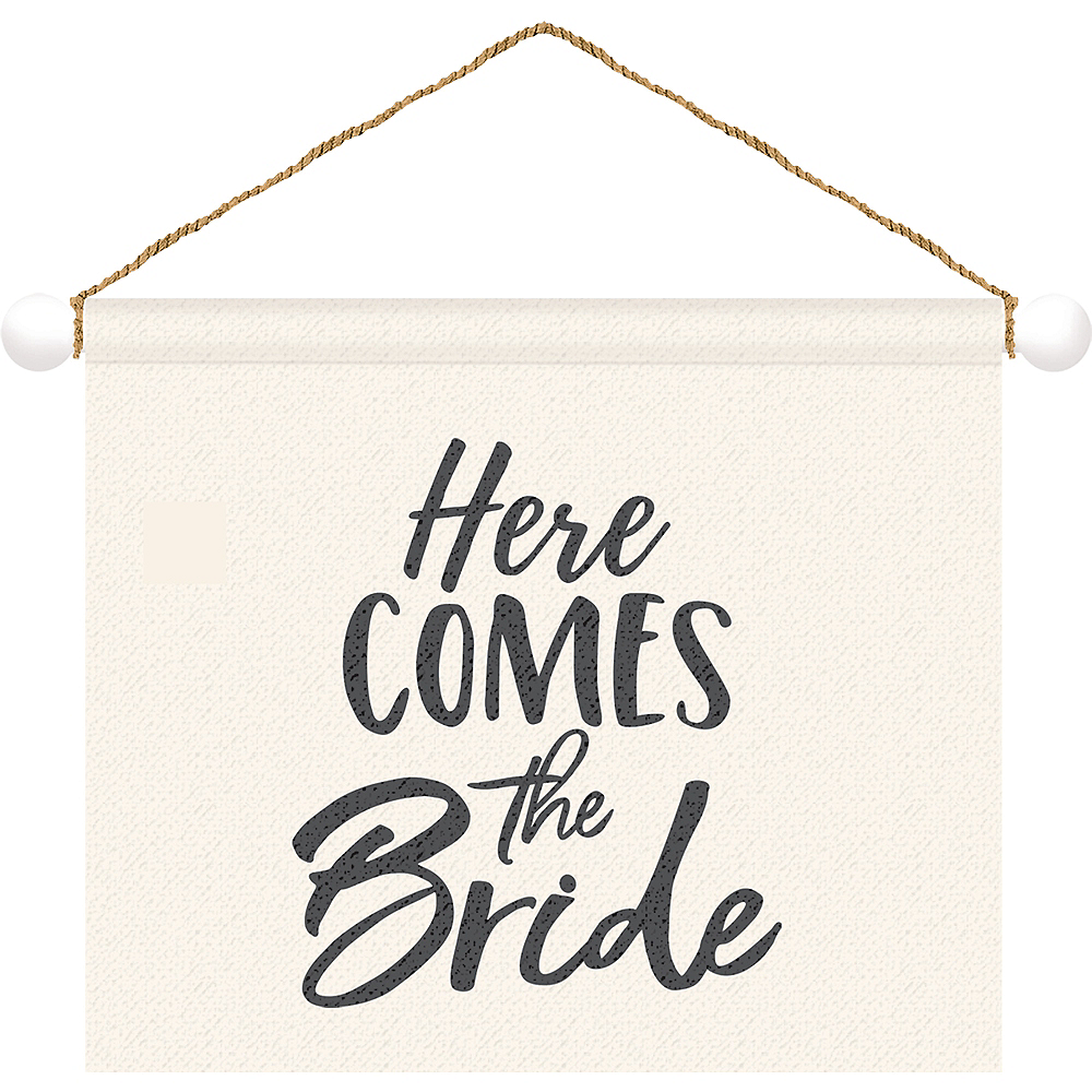 Here Comes the Bride Canvas Sign Image #1