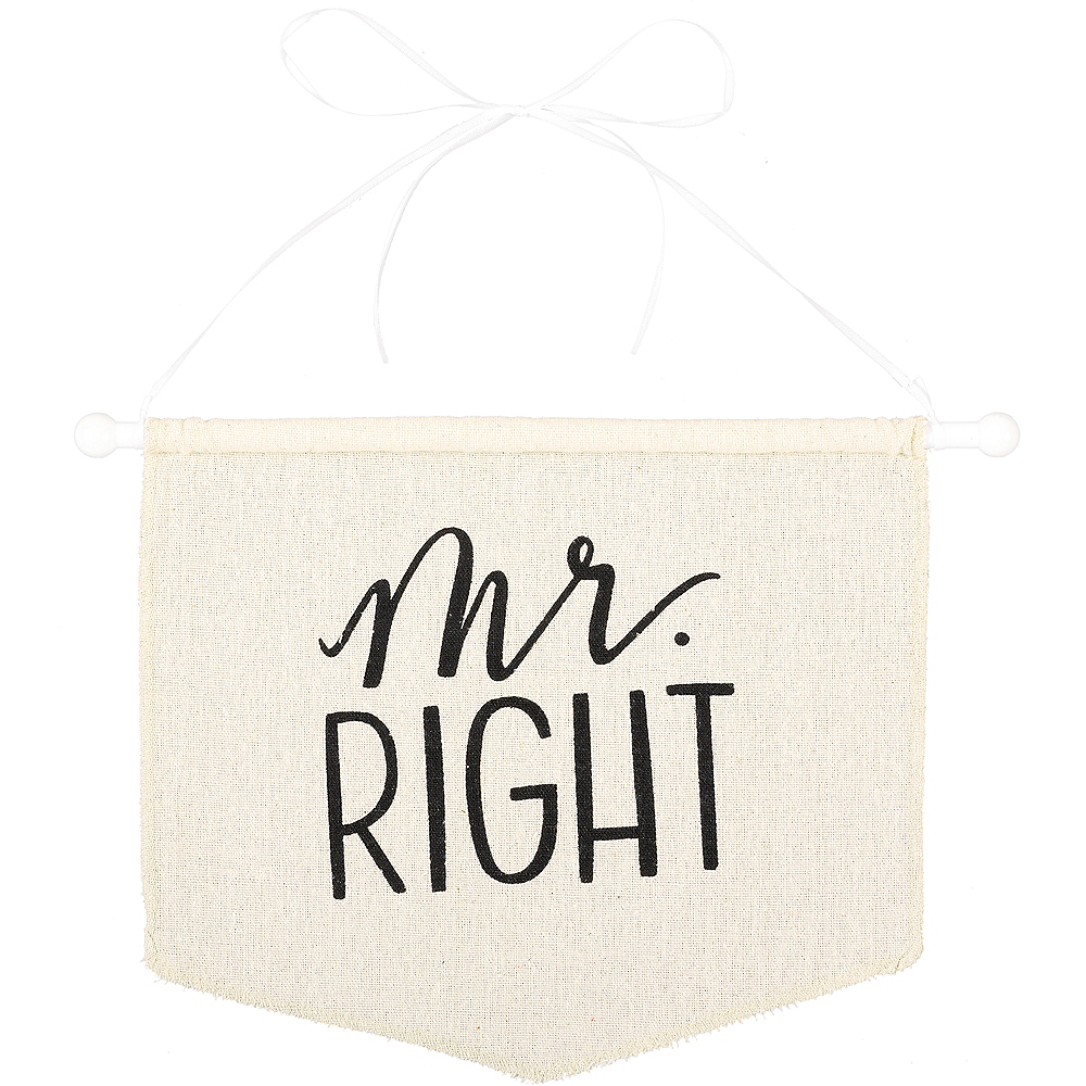 Mr. Right Canvas Chair Sign Image #1