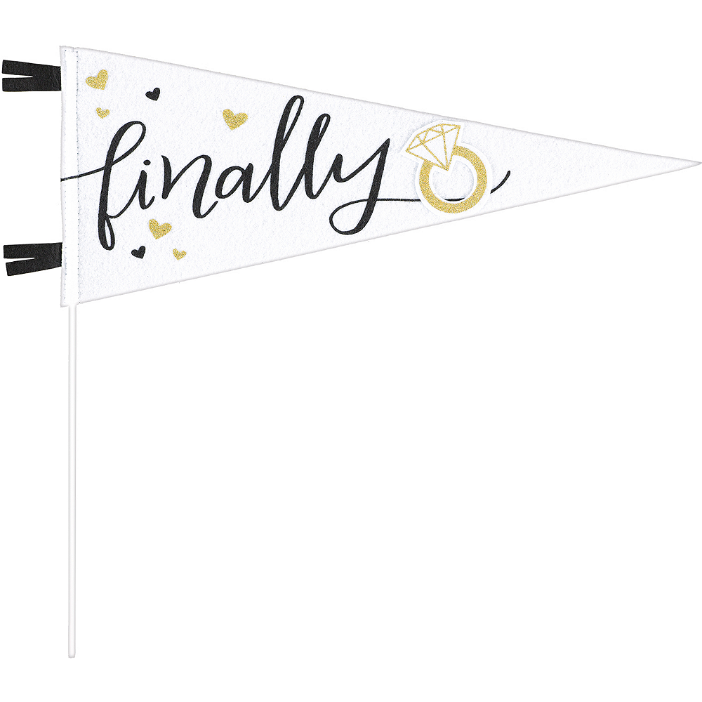 Finally Wedding Pennant Flag Image #1