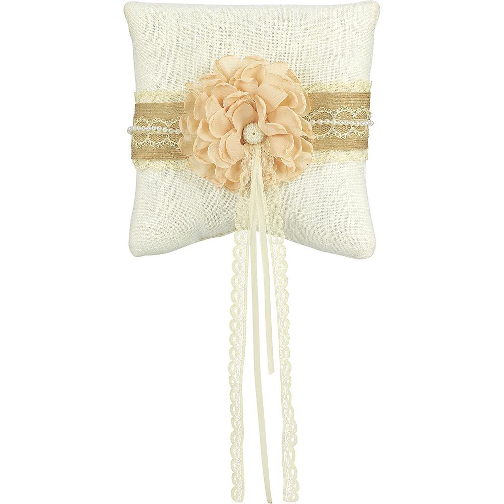 Rustic Ring Bearer Pillow Image #1