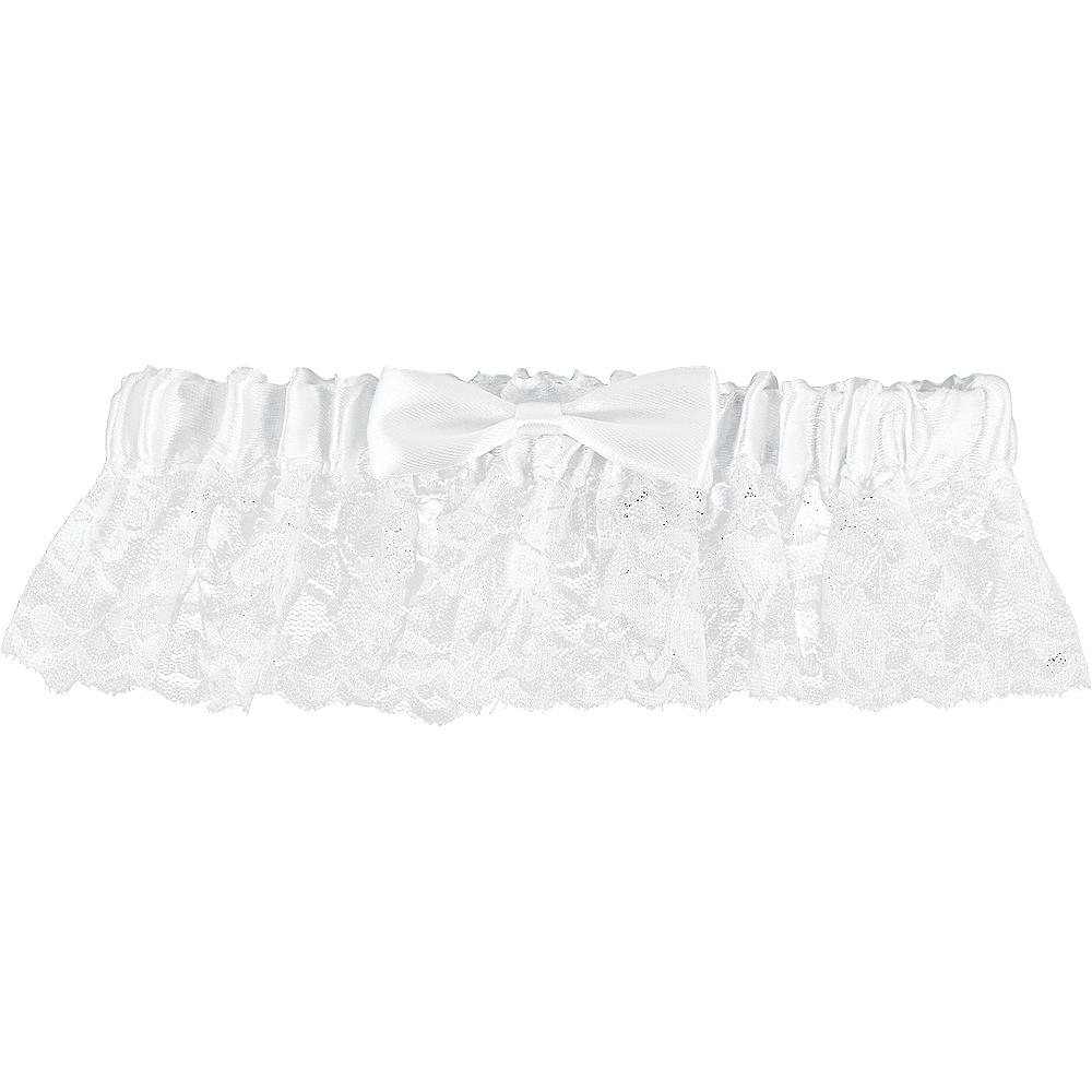 Elegant White Wedding Garter Image #1