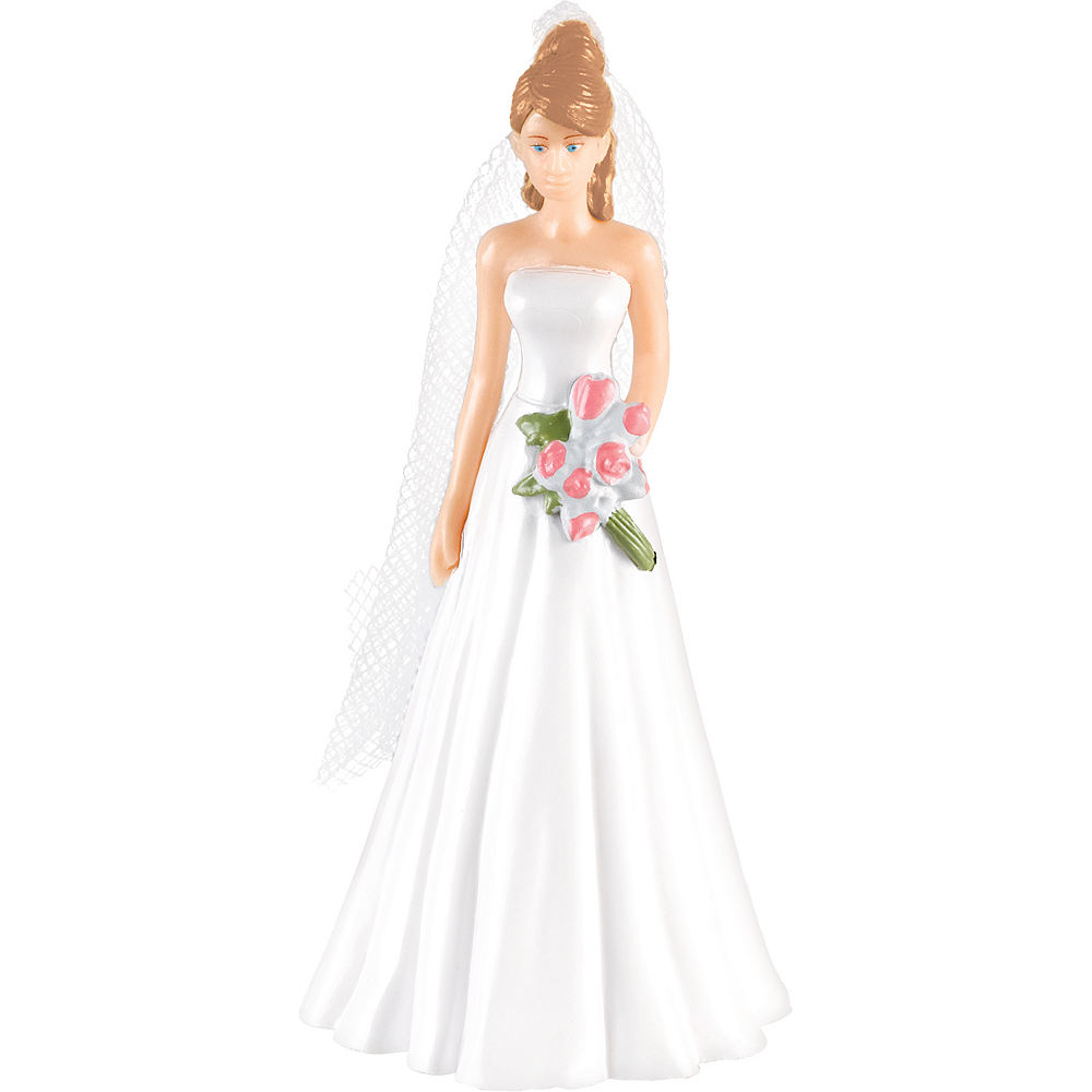 Caucasian Bride Cake Topper Image #1