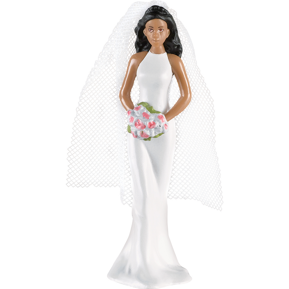 Nav Item for African American Bride Cake Topper Image #1