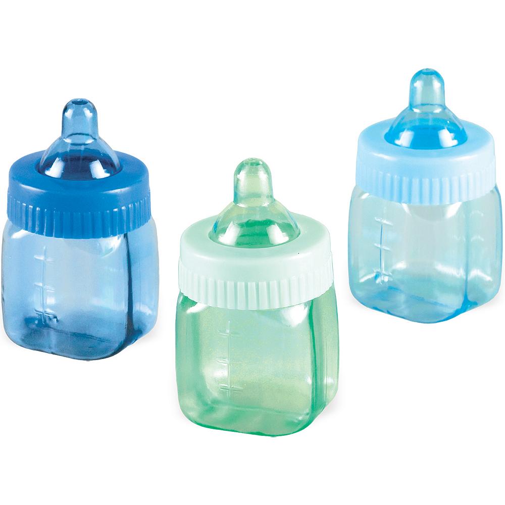 Mini Blue Bottles Baby Shower Favors 6ct Image #1