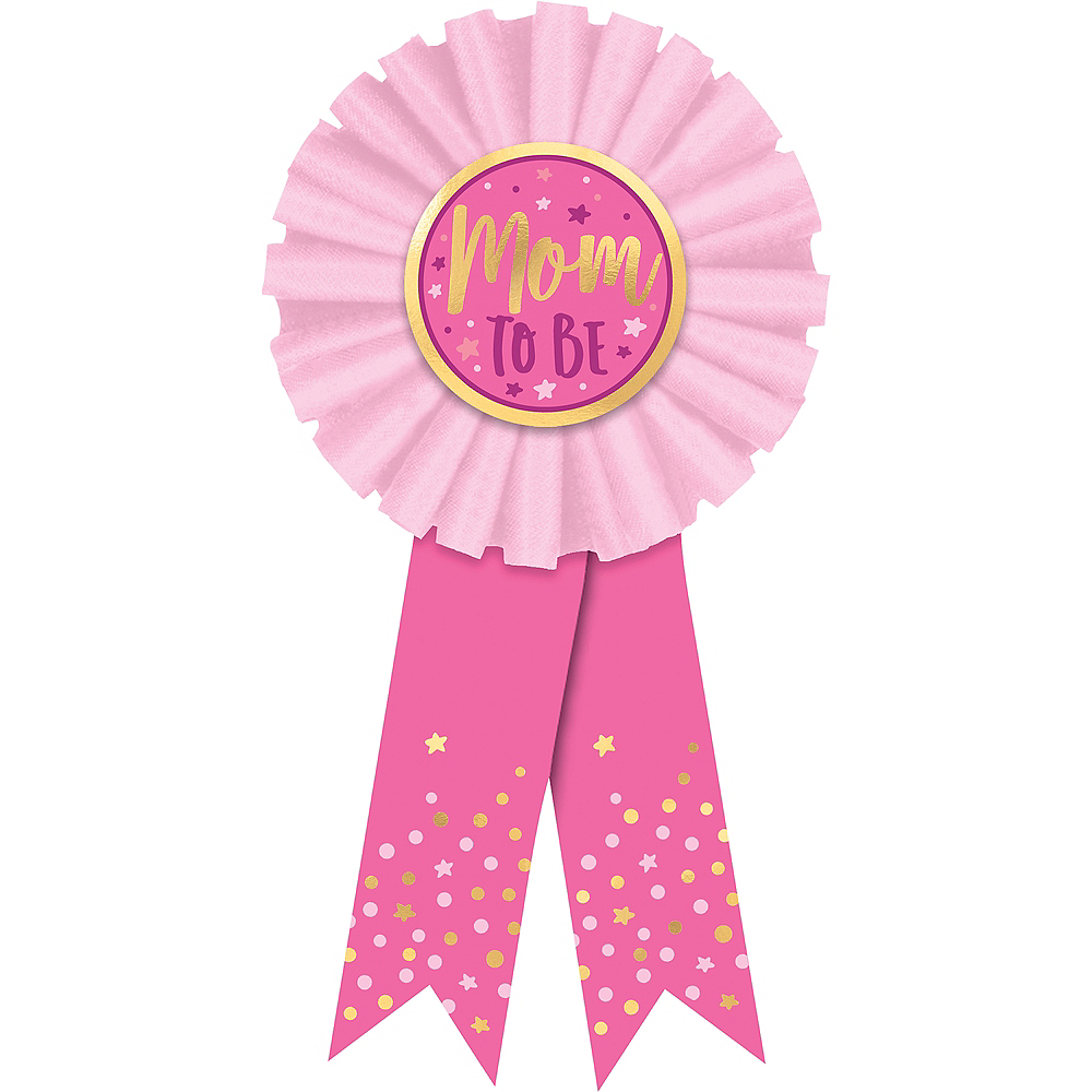 Pink Mom To Be Award Ribbon 3in X 5 3 4in Party City
