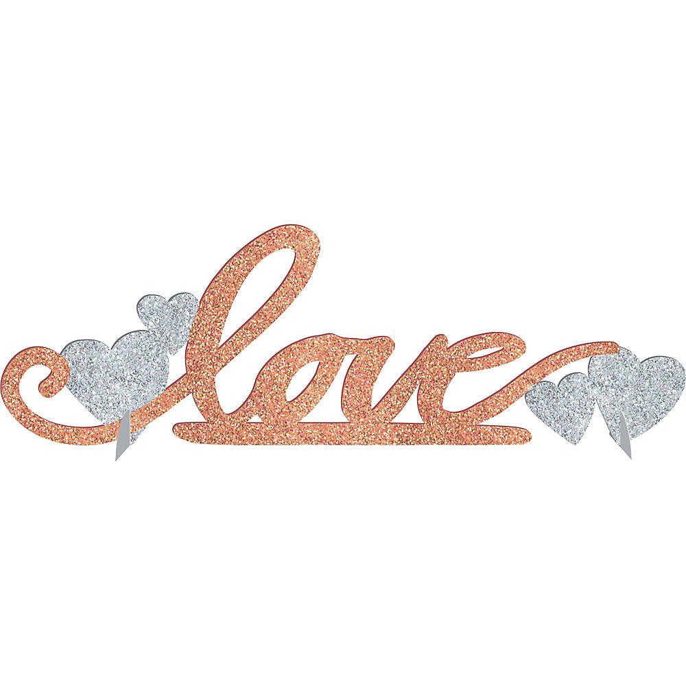 Glitter Blush Love Table Sign Image #1