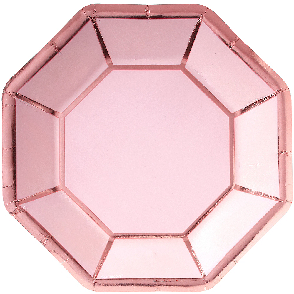 Metallic Blush & Rose Gold Dinner Plates 8ct Image #1