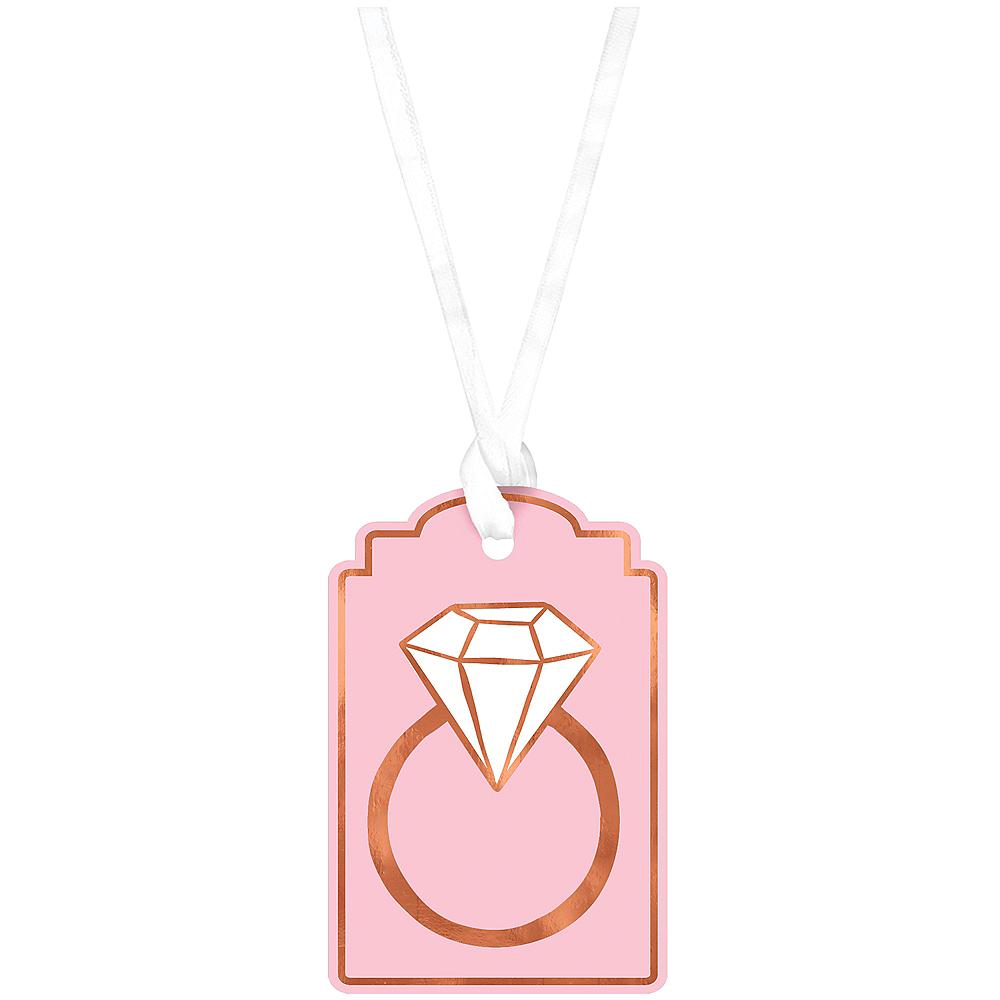 Blush & Rose Gold Diamond Ring Gift Tags Image #1