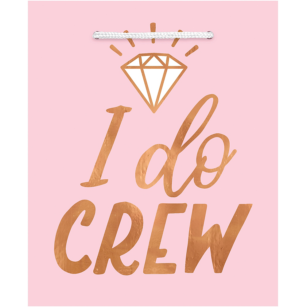 Blush & Rose Gold I Do Crew Gift Bags 6ct Image #1
