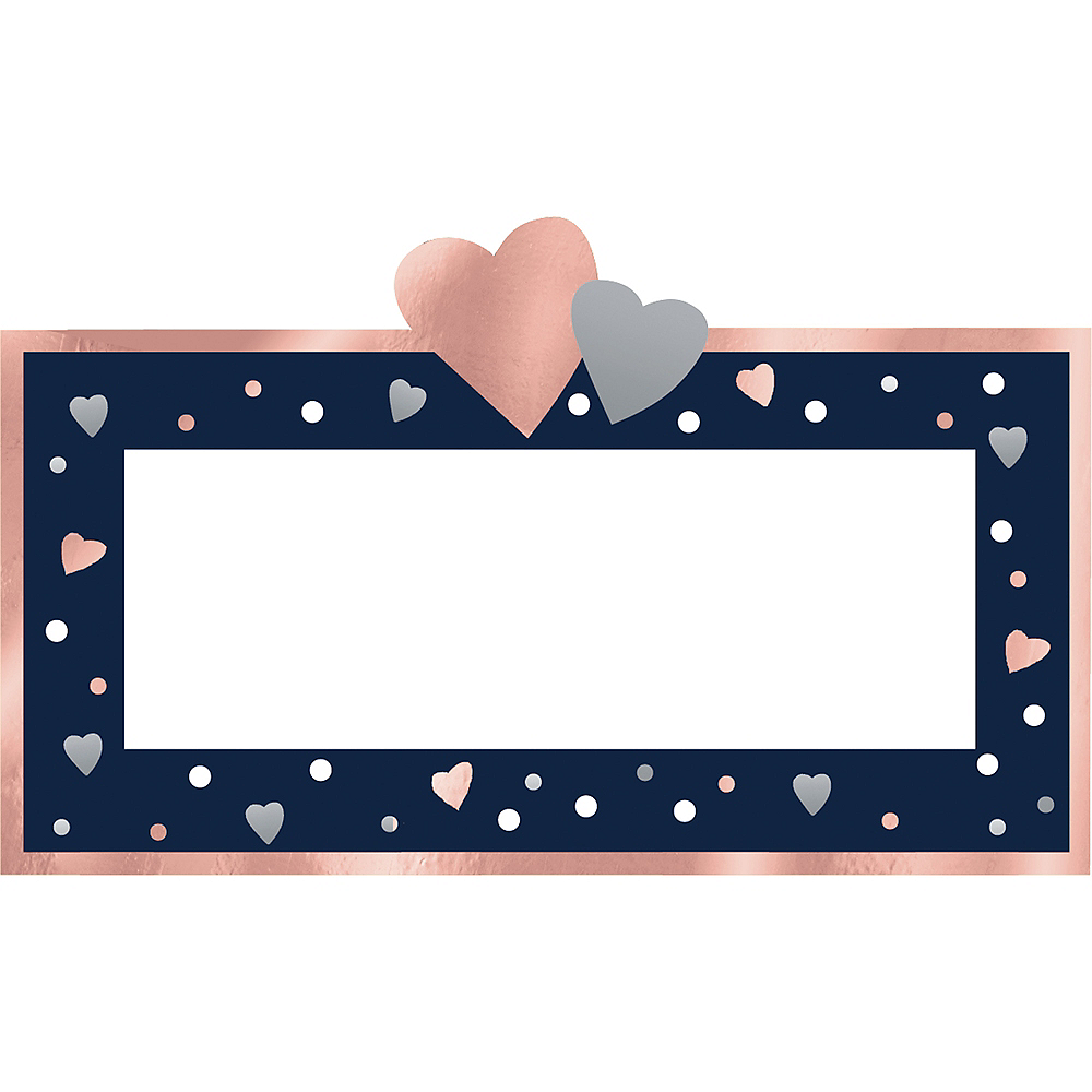 Navy Love Place Cards 25ct Image #1
