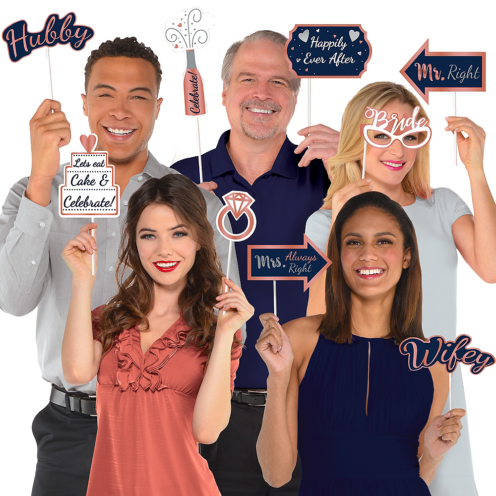 Navy Love Photo Booth Kit with Props 21pc Image #1