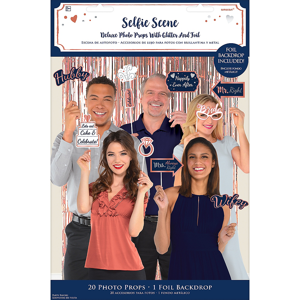 Navy Love Photo Booth Kit with Props 21pc Image #2