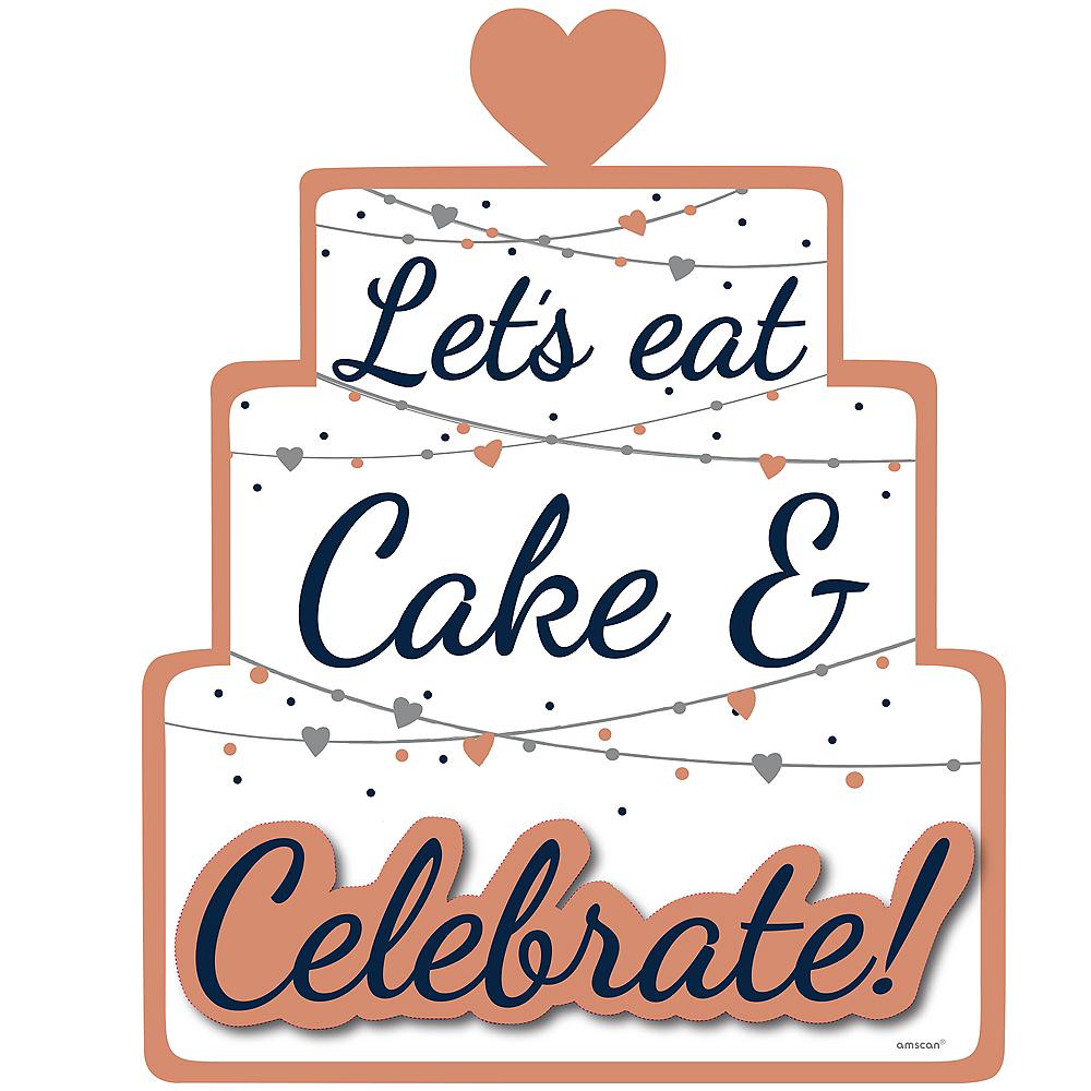 Navy Love Let's Eat Cake Sign Image #1