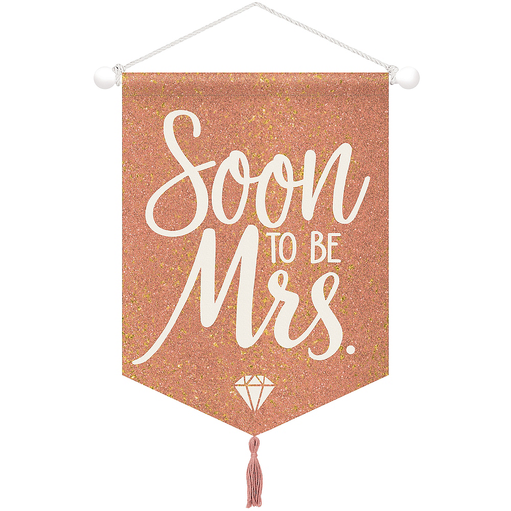 Blush & Rose Gold Soon To Be Mrs. Sign Canvas Sign Image #1