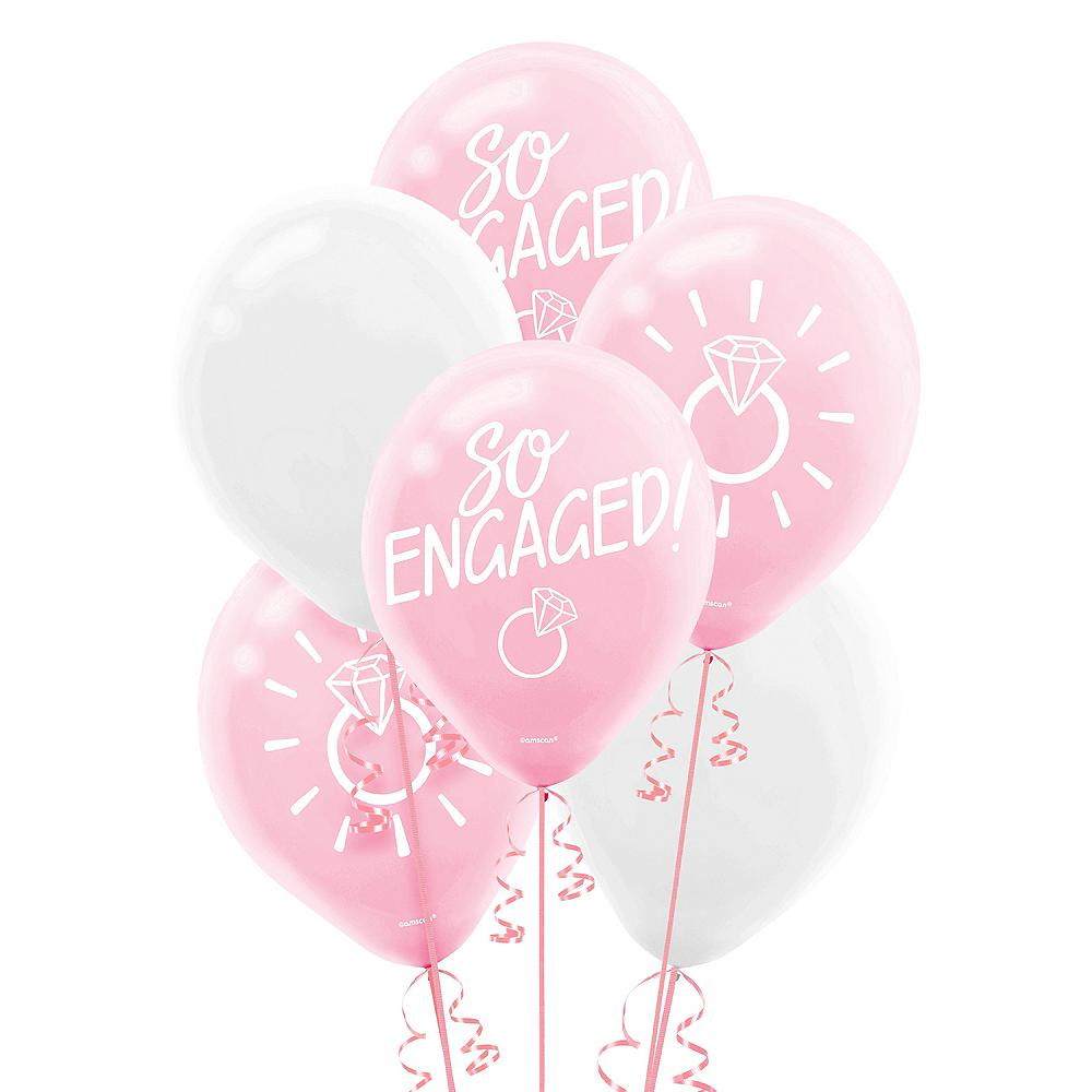 Blush & White So Engaged Balloons 15ct Image #1