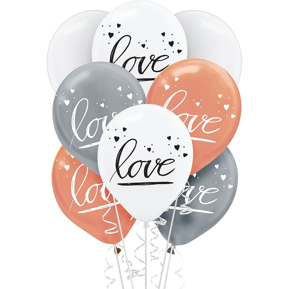 Navy Love Balloons 15ct Image #1