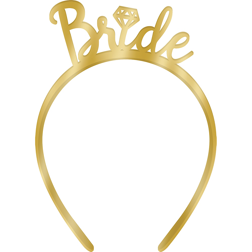 Metallic Gold Bride Headband Image #1