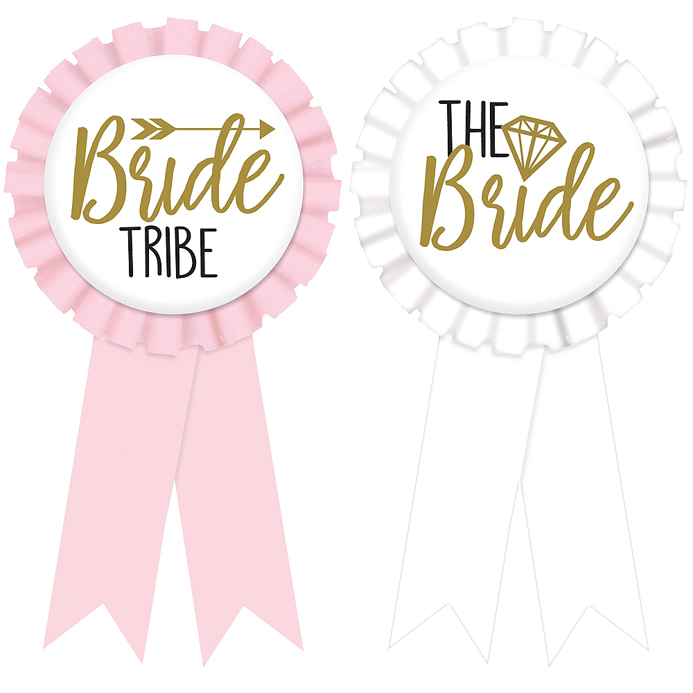 Bride Tribe Bachelorette Party Award Ribbons 8ct Image #1