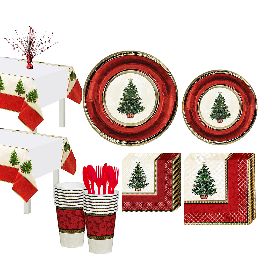 Classic Christmas Tree Party Kit for 32 Guests Image #1