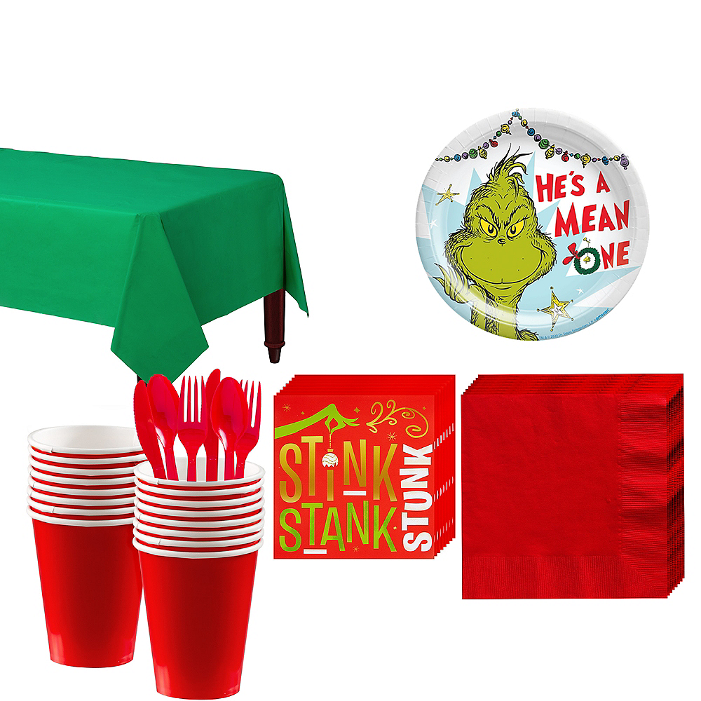 The Grinch Christmas Party.Grinch Christmas Party Kit For 16 Guests