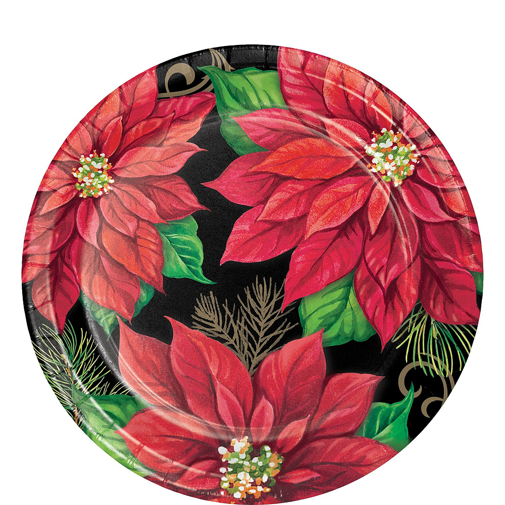 Posh Poinsettia Tableware Kit for 16 Guests Image #6