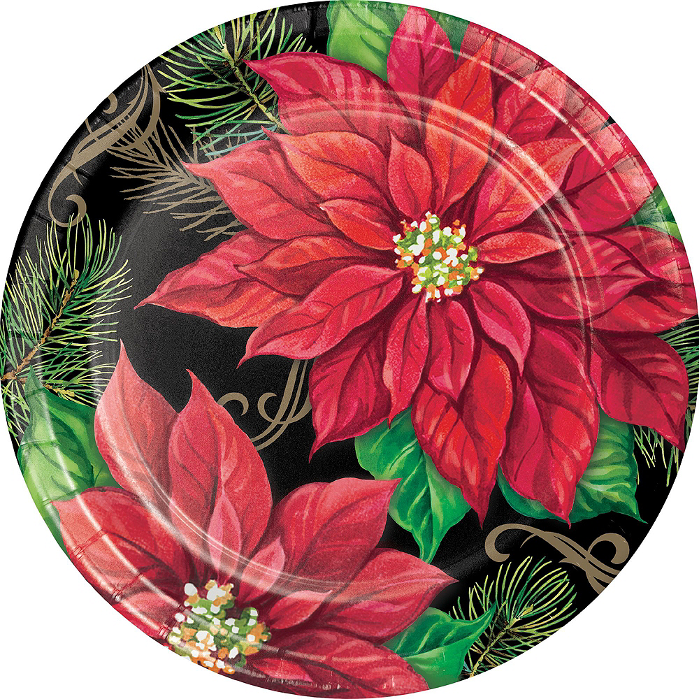 Posh Poinsettia Tableware Kit for 32 Guests Image #7