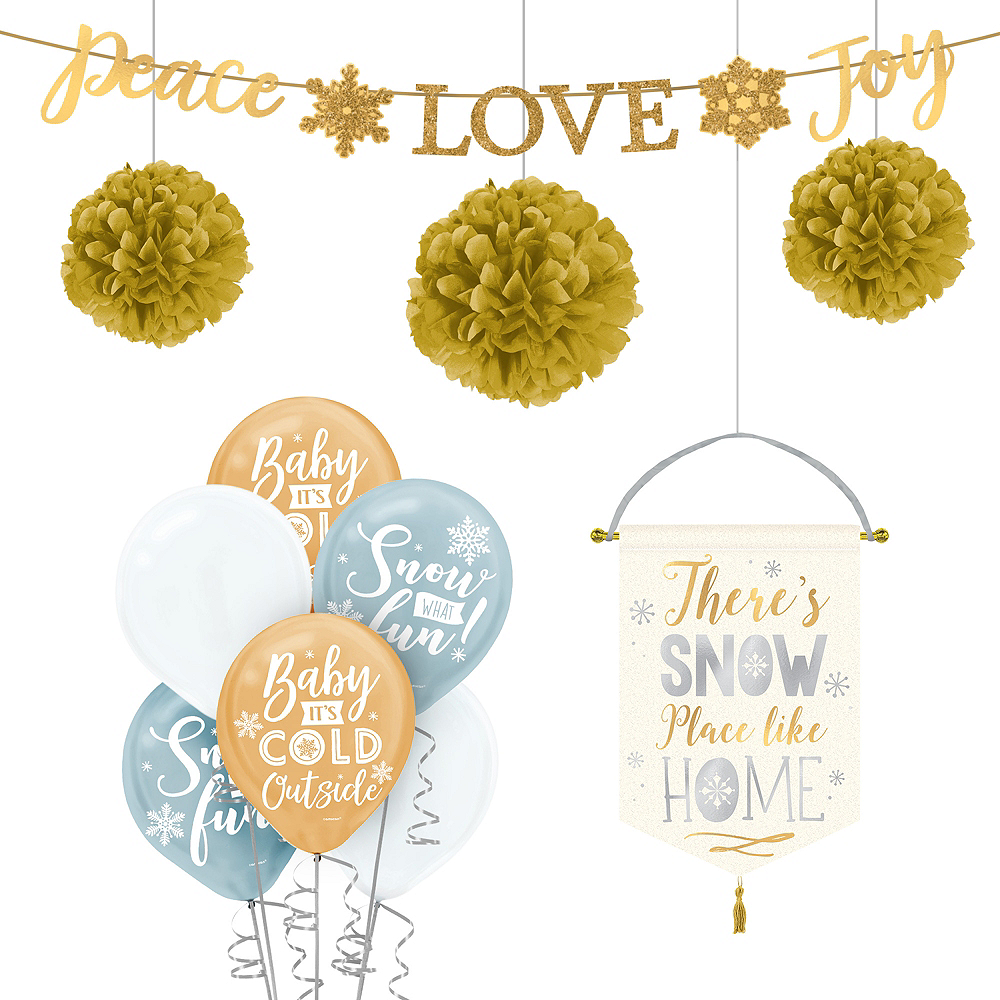 Gold Christmas Decorating Kit Image #1