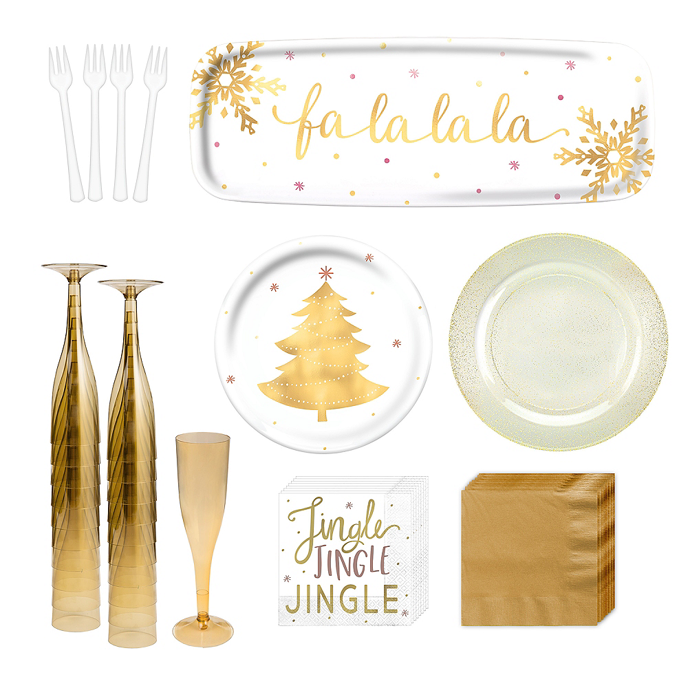 Metallic Gold Holiday Appetizer Kit for 16 Image #1
