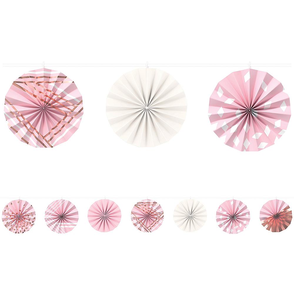 Metallic Rose Gold & Pink Paper Fan Garland Image #1