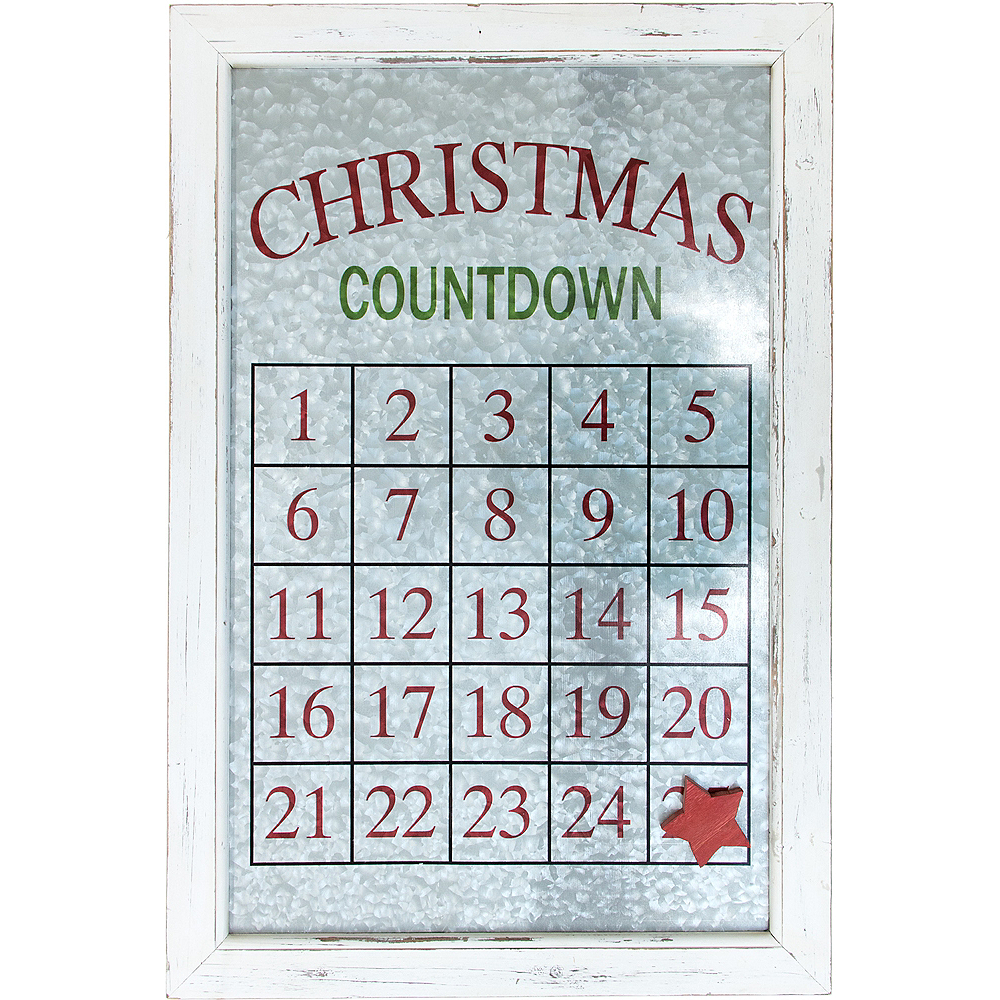 Christmas Countdown Calendar.Magnetic Christmas Countdown Advent Calendar