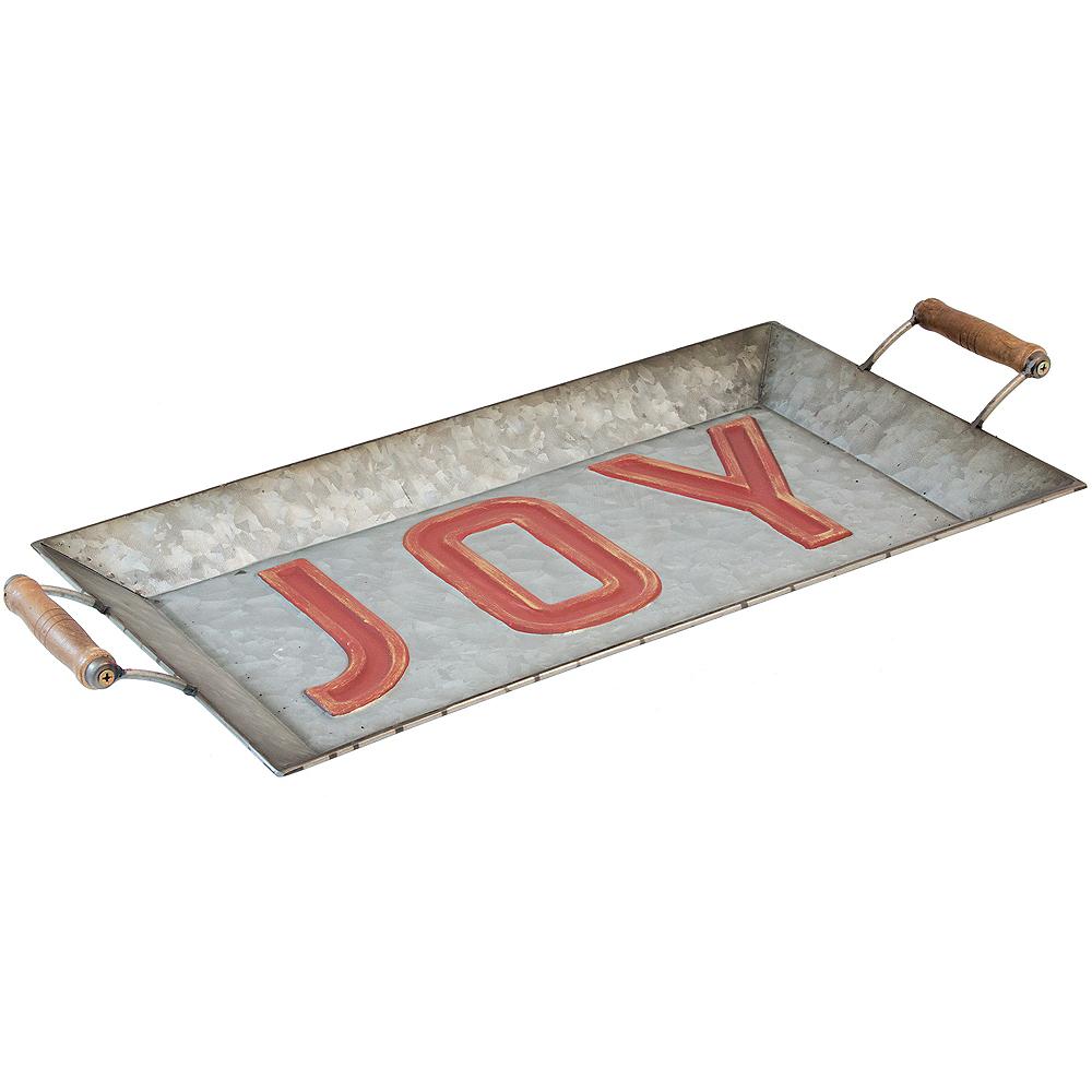 Galvanized Joy Serving Tray Image #1
