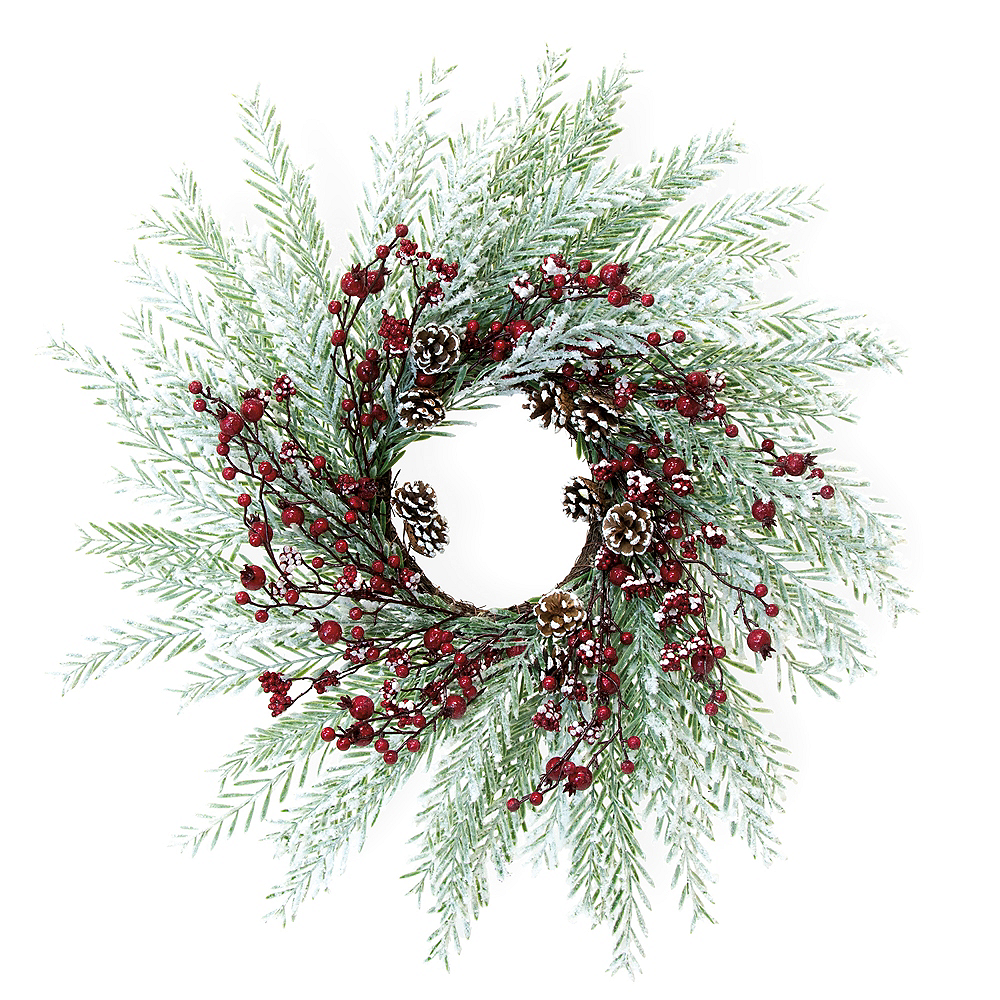 Large Red Berry Wreath Image #1