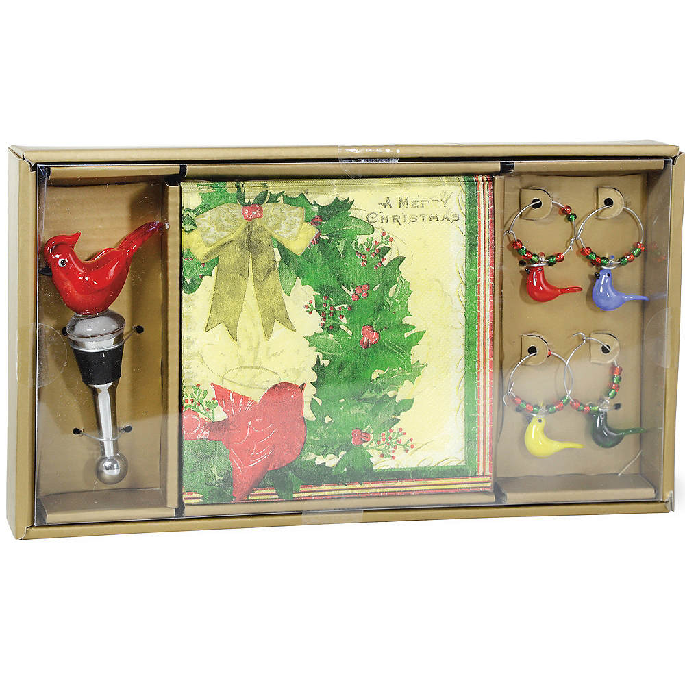 Merry Christmas Birds Drink Set Image #1