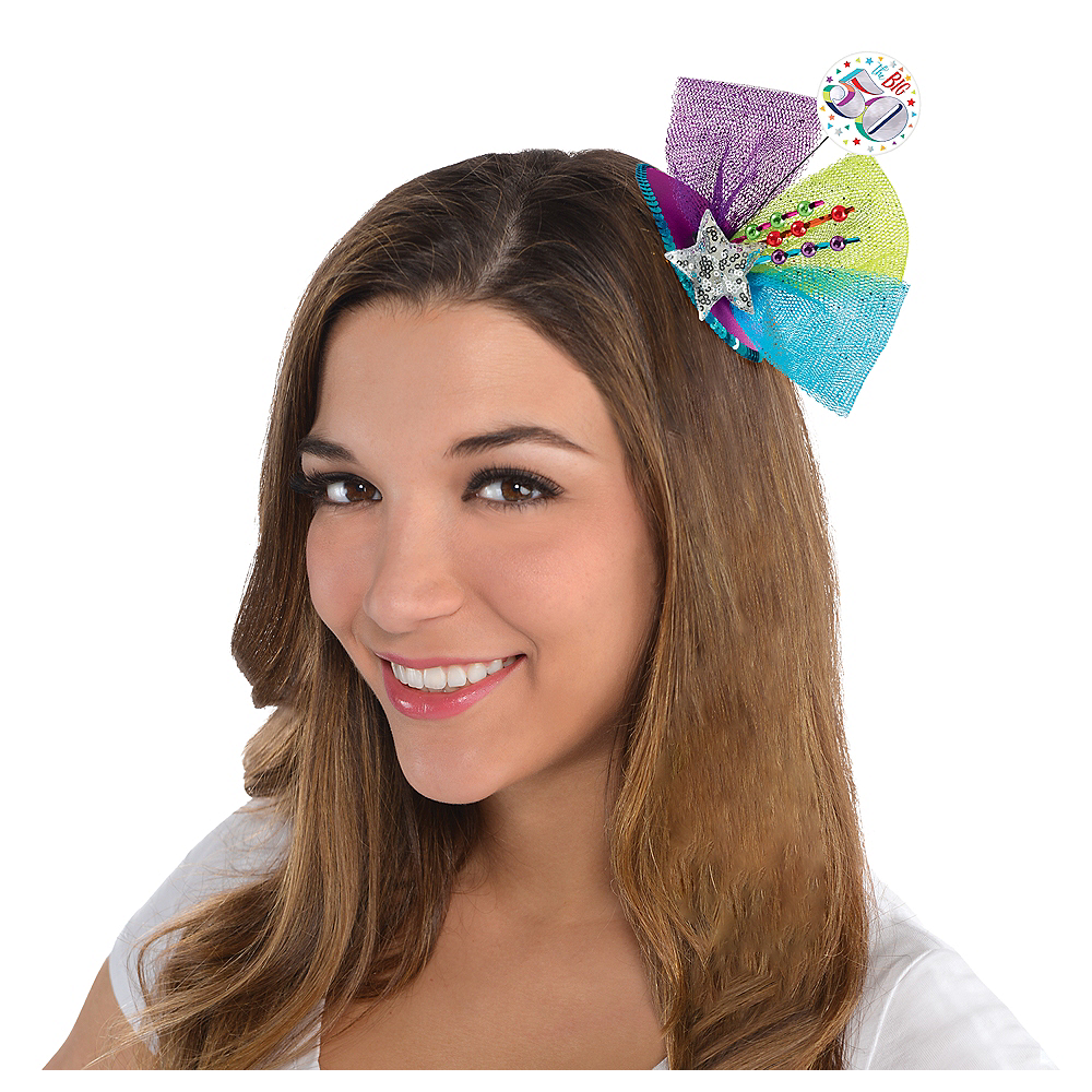 Clip-On Multicolor 50th Birthday Fascinator Hat Image #2