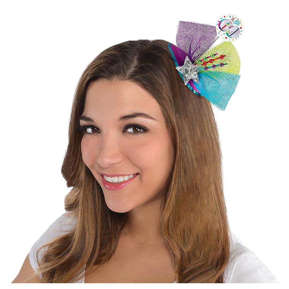 Clip-On Multicolor 60th Birthday Fascinator Hat Image #2