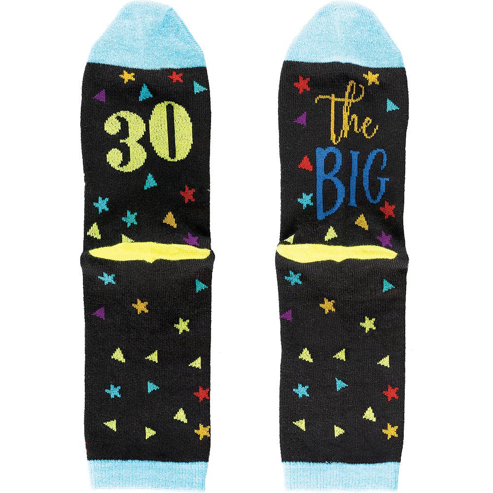 Multicolor 30th Birthday Crew Socks Image #1