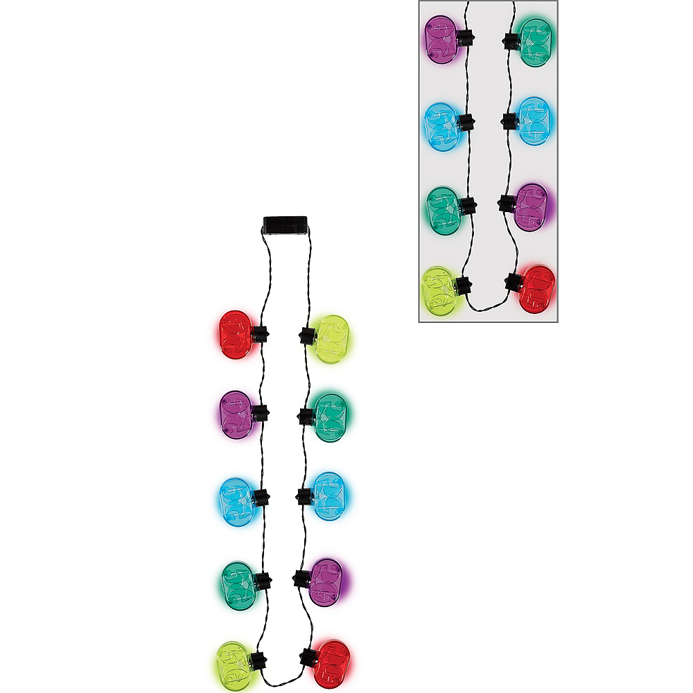 Light-Up Multicolor 50th Birthday Necklace Image #1