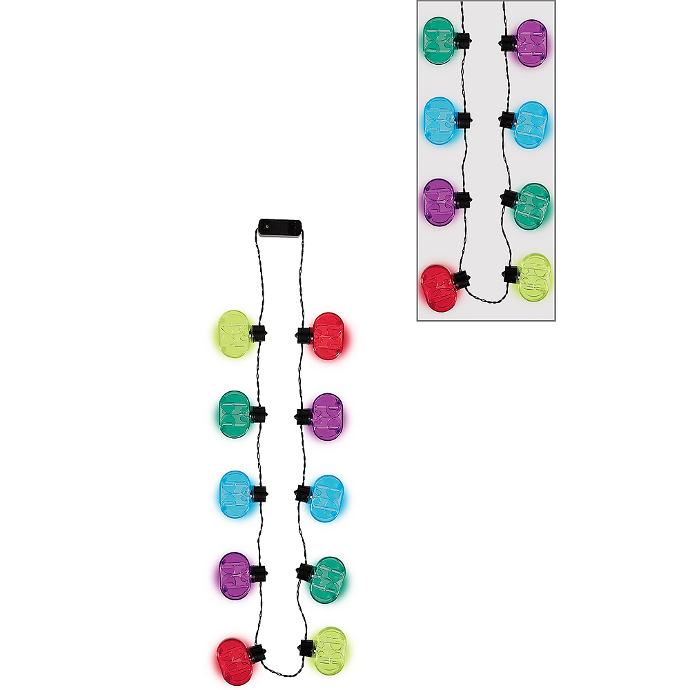 Light-Up Multicolor 60th Birthday Necklace Image #1
